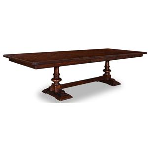 A.R.T. Furniture Inc Whiskey Oak Trestle Dining Table