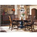 Belfort Signature Belvedere Rustic Two-Toned Round Dining Table