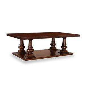 Markor Furniture Riverside Rectangular Pedestal Cocktail Table