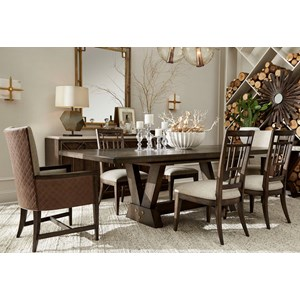 7-Piece Oak Park Dining Table Set