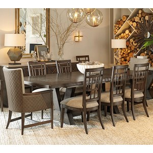 9-Piece Oak Park Dining Table Set