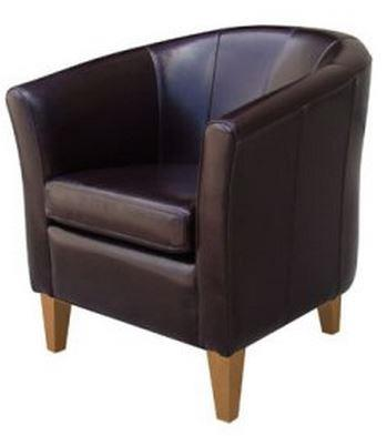 Artage International Brown Leather Club Chair - Item Number: 09501