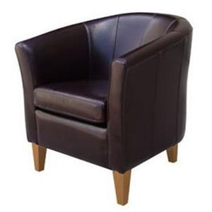 Artage International Brown Leather Club Chair
