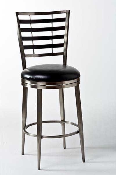 Artage International Bowman Metal Slat Back Bar Stool - Item Number: 5246-830
