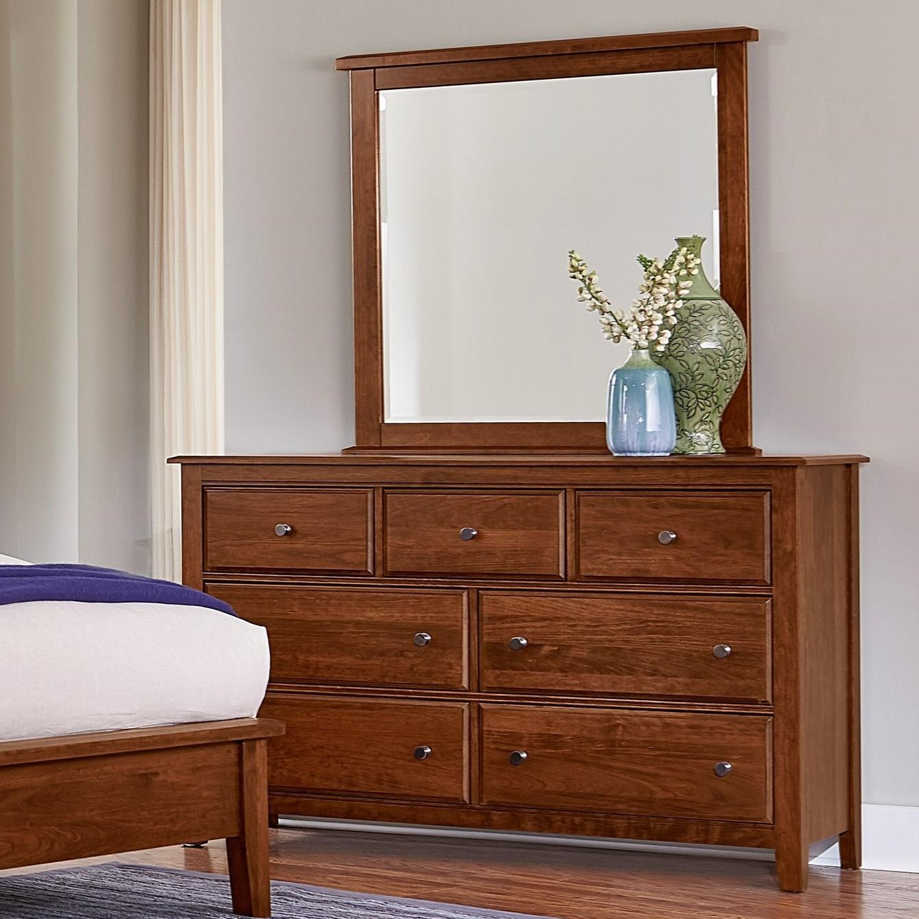 Artisan Choices Loft Triple Dresser & Tall Landscape Mirror by Artisan & Post at Northeast Factory Direct