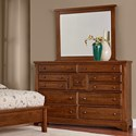 Artisan & Post Artisan Choices Villa Triple Dresser & Landscape Mirror - Item Number: 100-004+446