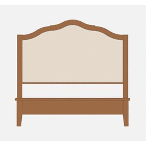 King Upholstered Headboard w/ Low Footboard