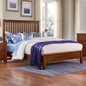 Artisan & Post Artisan Choices Queen Slat Bed with Low Profile Footboard - Item Number: 100-557+755+922