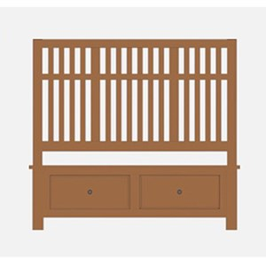 Artisan & Post Artisan Choices Queen Craftsman Slat Storage Bed