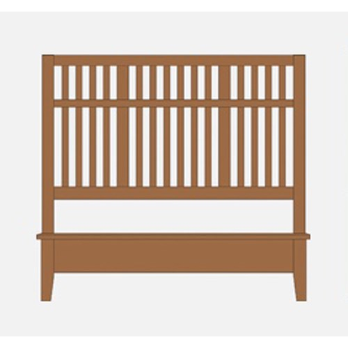 Artisan Choices Queen Craftsman Slat Bed w/ Low Ftbd by Artisan & Post at Northeast Factory Direct