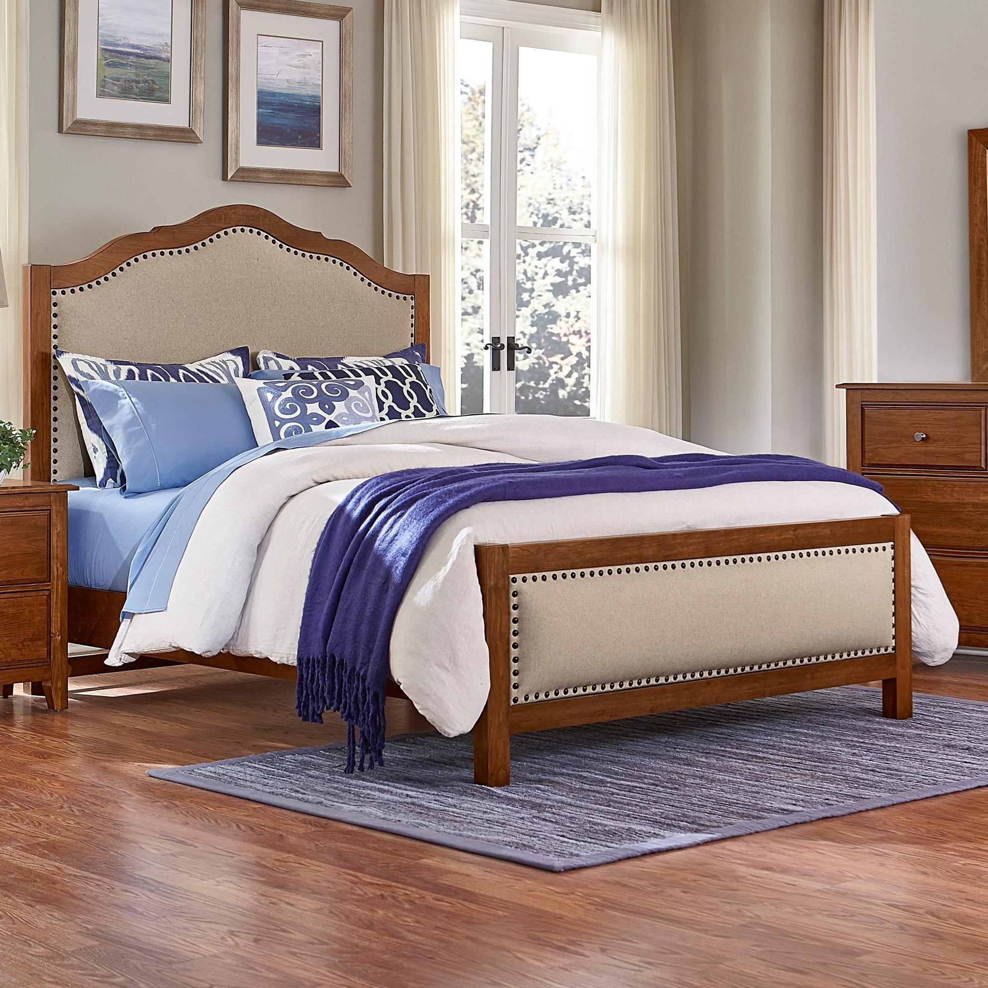 Artisan & Post Artisan Choices King Upholstered Bed - Item Number: 100-661+166+933+MS2