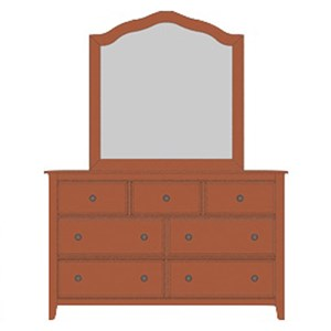 Loft Triple Dresser & Tall Arched Mirror