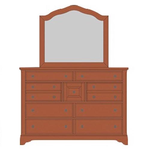 Artisan & Post Artisan Choices Villa Triple Dresser & Arched Mirror - Item Number: 101-004+442