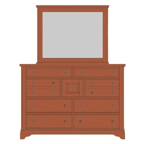 Artisan & Post Artisan Choices Villa Triple Dresser & Landscape Mirror - Item Number: 101-004+446