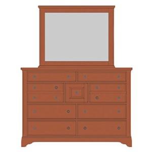 Artisan & Post Artisan Choices Villa Triple Dresser & Landscape Mirror