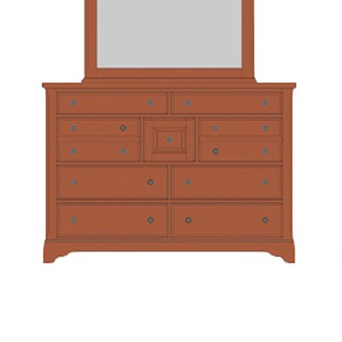 Artisan & Post by Vaughan Bassett Artisan Choices Villa Triple Dresser - 9 Drawers - Item Number: 101-004