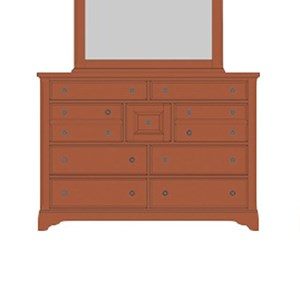 Artisan & Post Artisan Choices Villa Triple Dresser - 9 Drawers