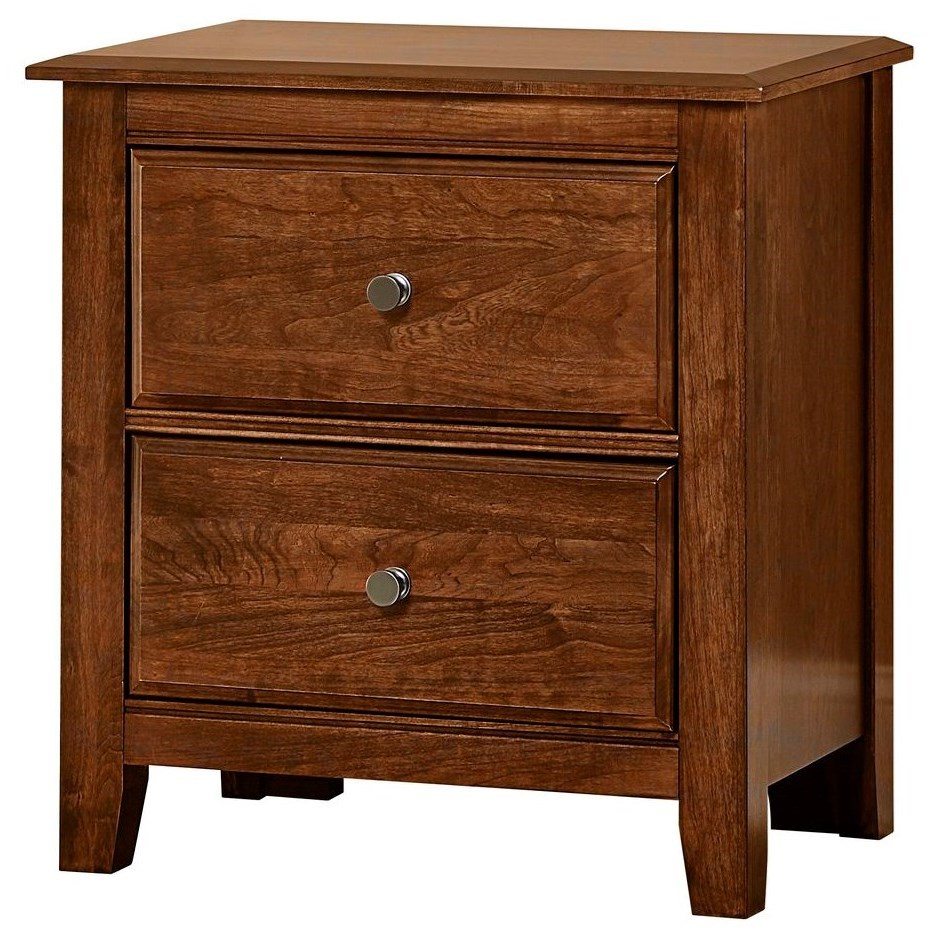 Artisan Choices Loft Night Stand - 2 Drawers by Artisan & Post at Zak's Home