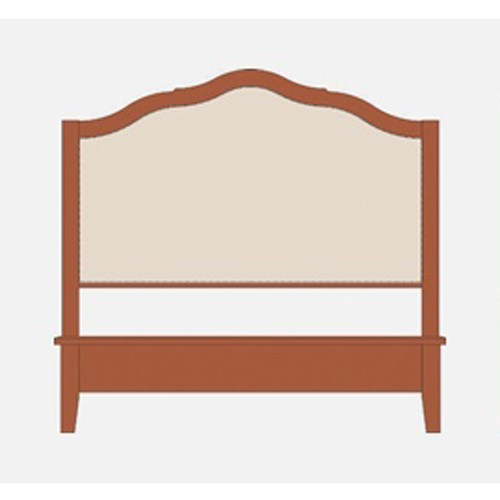 King Upholstered Headboard w/ Low Footboard