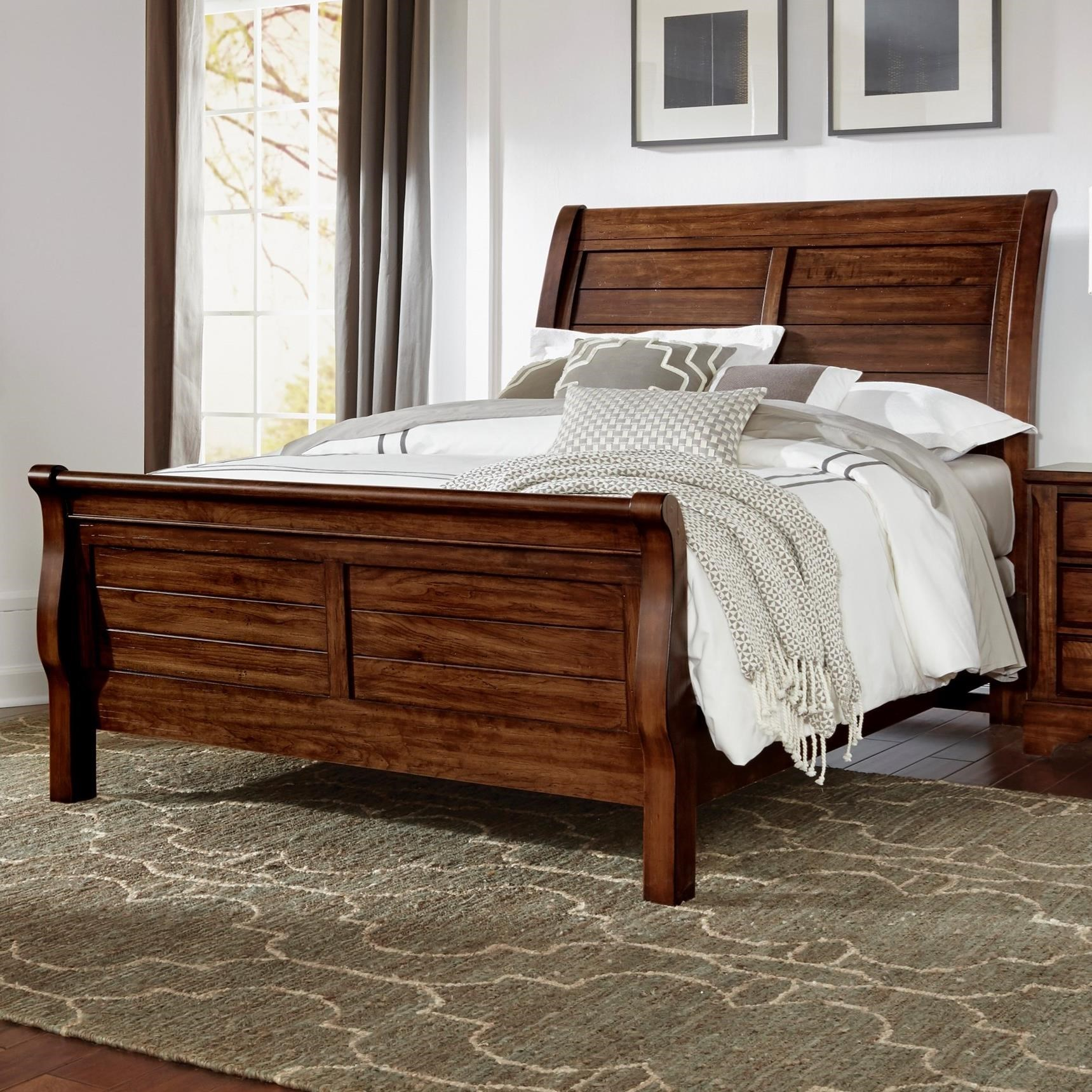 Artisan Choices Queen Sleigh Bed by Artisan & Post at Northeast Factory Direct