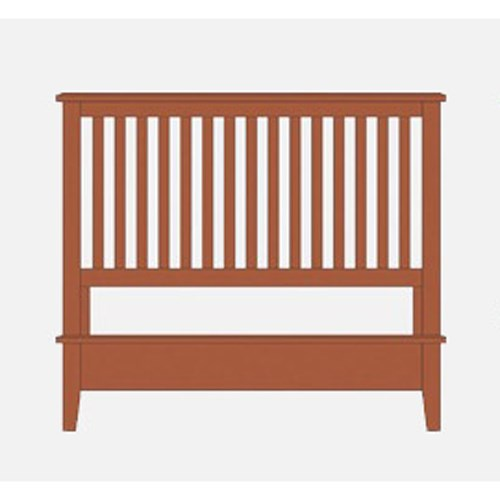 Artisan & Post Artisan Choices Queen Slat Bed with Low Profile Footboard - Item Number: 101-557+755+922