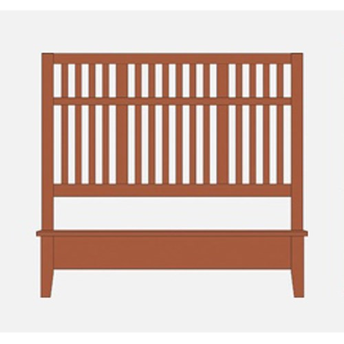 King Craftsman Slat Bed w/ Low Ftbd