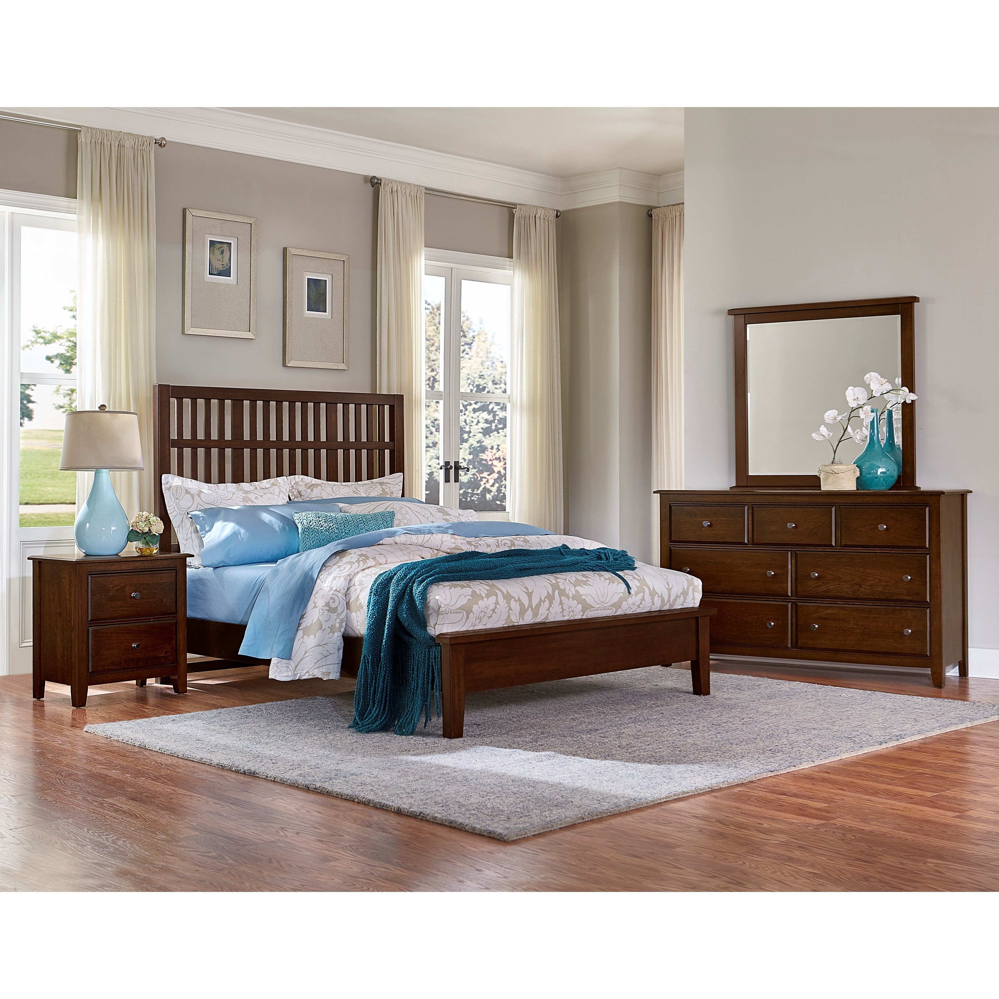 Artisan Choices Queen Bedroom Group by Virginia House at Virginia Furniture Market