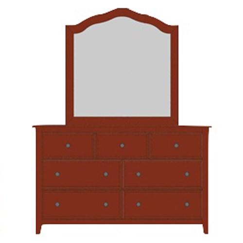 Loft Triple Dresser & Tall Arched Mirror