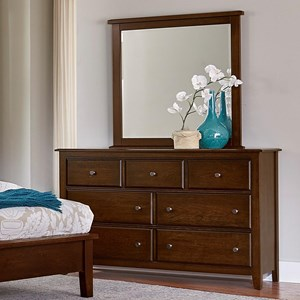 Artisan & Post by Vaughan Bassett Artisan Choices Loft Triple Dresser & Tall Landscape Mirror