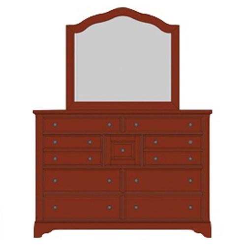Villa Triple Dresser & Arched Mirror