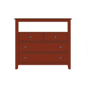 Artisan & Post Artisan Choices Loft Media Chest - 4 Drawers