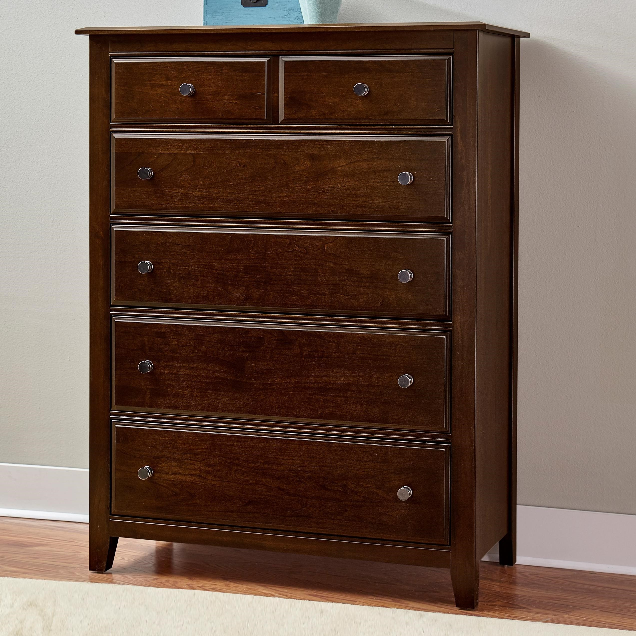 Artisan Choices Loft Chest - 5 Drawers by Artisan & Post at Zak's Home