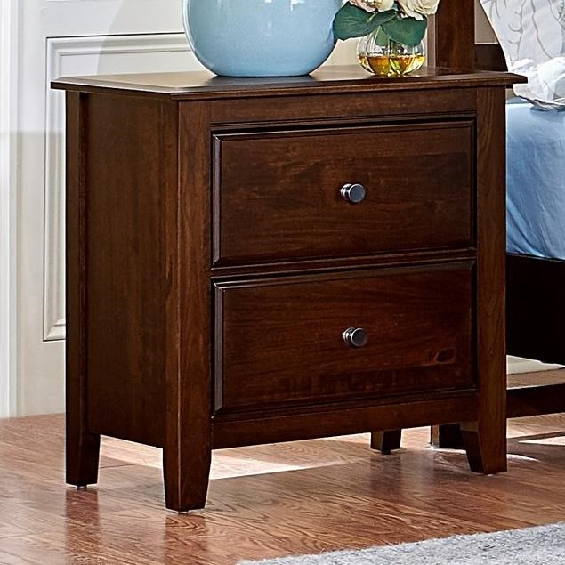 Artisan Choices Loft Night Stand - 2 Drawers by Artisan & Post at Crowley Furniture & Mattress