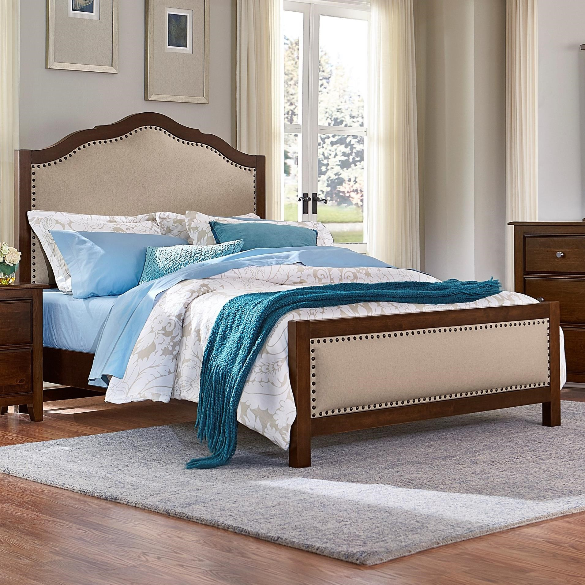 Artisan & Post Artisan Choices Queen Upholstered Bed - Item Number: 104-551+155+922