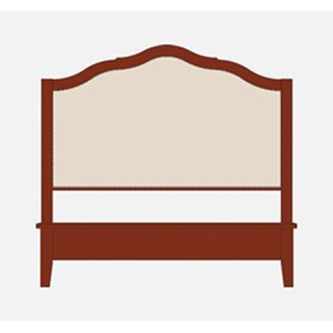 Artisan & Post by Vaughan Bassett Artisan Choices Queen Upholstered Headboard w/ Low Footboard