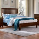 Artisan & Post by Vaughan Bassett Artisan Choices Queen Slat Bed with Low Profile Footboard - Item Number: 104-557+755+922