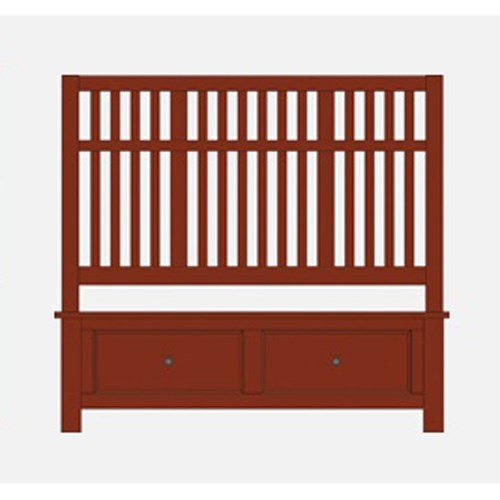 Artisan & Post Artisan Choices King Craftsman Slat Storage Bed - Item Number: 104-668+066B+666T+502