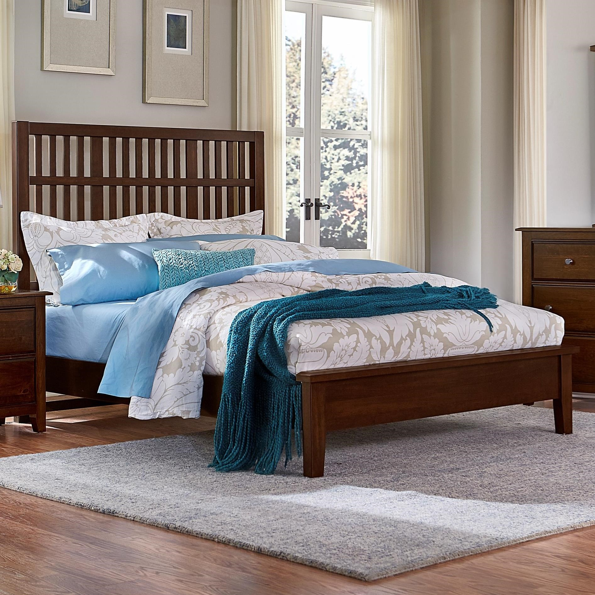 Artisan & Post Artisan Choices Queen Craftsman Slat Bed w/ Low Ftbd - Item Number: 104-558+755+922