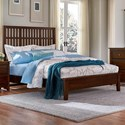 Artisan & Post by Vaughan Bassett Artisan Choices Queen Craftsman Slat Bed w/ Low Ftbd - Item Number: 104-558+755+922