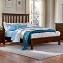 Artisan & Post Artisan Choices King Slat Bed with Low Profile Footboard - Queen Size Bed Shown