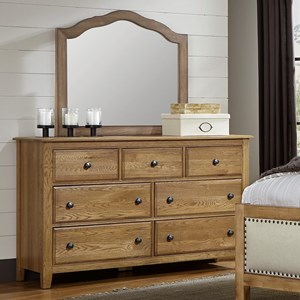 Artisan & Post Artisan Choices Loft Triple Dresser & Tall Arched Mirror