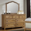 Artisan & Post Artisan Choices Solid Wood Loft Triple Dresser & Tall Arched Mirror
