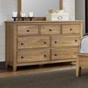 Artisan & Post Artisan Choices Loft Triple Dresser - 7 Drawers - Item Number: 105-003