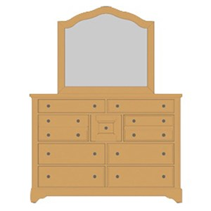 Artisan & Post Artisan Choices Villa Triple Dresser & Arched Mirror