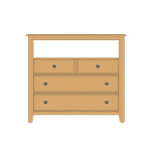 Loft Media Chest - 4 Drawers