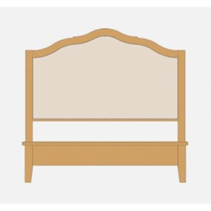 Queen Upholstered Headboard w/ Low Footboard