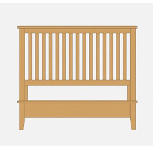 Artisan & Post Artisan Choices Queen Slat Bed with Low Profile Footboard - Item Number: 105-557+755+922