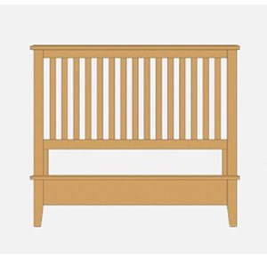 Queen Slat Bed with Low Profile Footboard