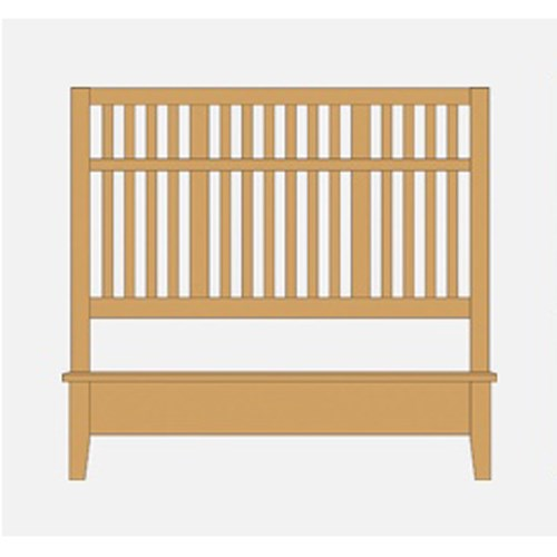Queen Craftsman Slat Bed w/ Low Ftbd