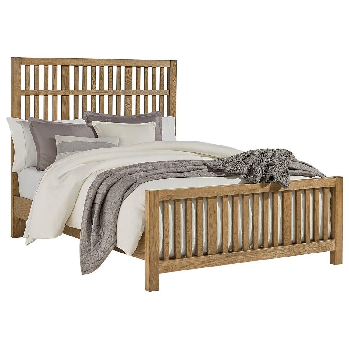 Queen Craftsman Slat Bed